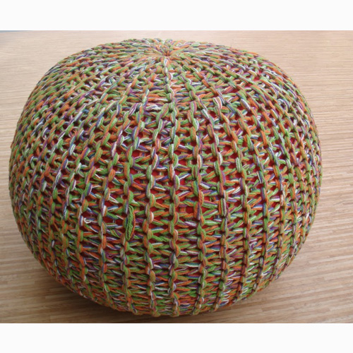 Knitted Poufs - 1237