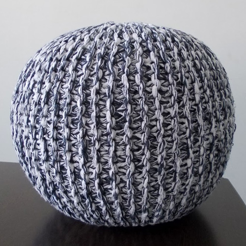 Knitted Poufs Charcoal