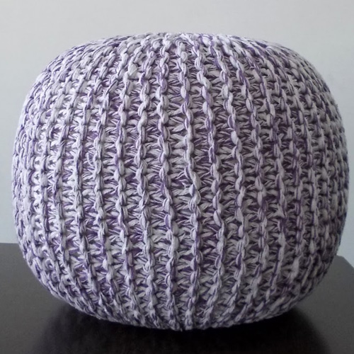 Knitted Poufs Lilac